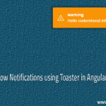 Showing notification using toaster in AngularJs