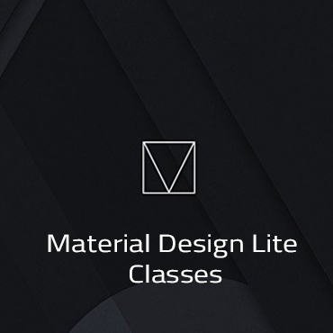 List of all Material Design Lite Classes