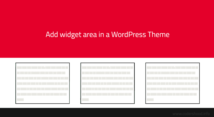 Add widget area in WordPress Theme