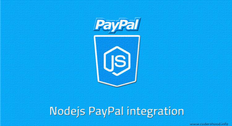 Nodejs PayPal integration