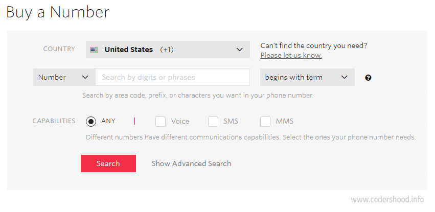 twilio Add Nubmer nodejs call verification