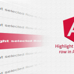 Highlight selected row Angular 2
