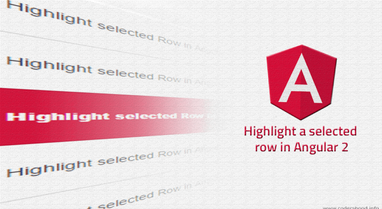 highlight-selected-row-angular-2
